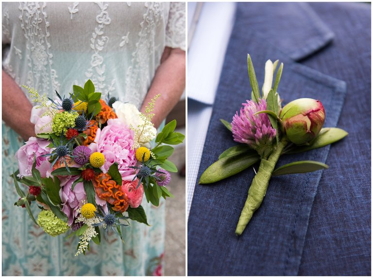 flowers as a bouquet and boutonniere